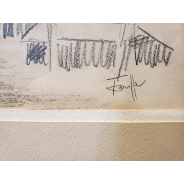 Fernand Léger Mid Century Industrial Factory Charcoal Drawing by Tonia Cariffa For Sale - Image 4 of 7
