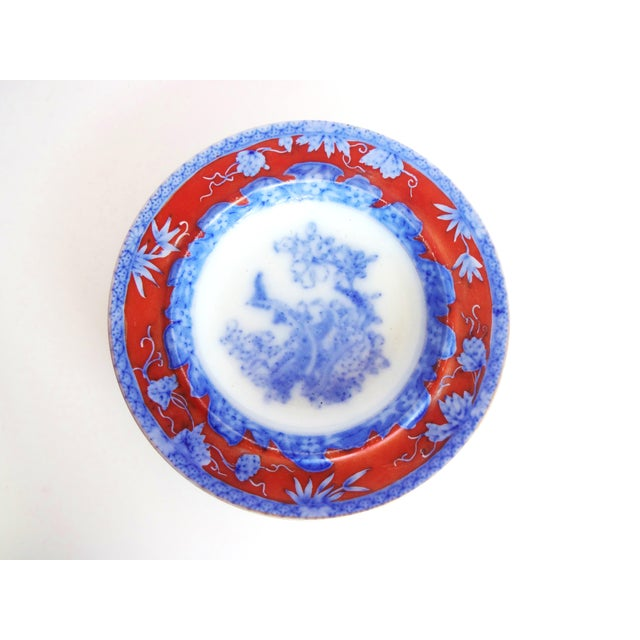 Early 19th Century Early 19th Century Antique Mason's Staffordshire Flow Blue Dish For Sale - Image 5 of 10