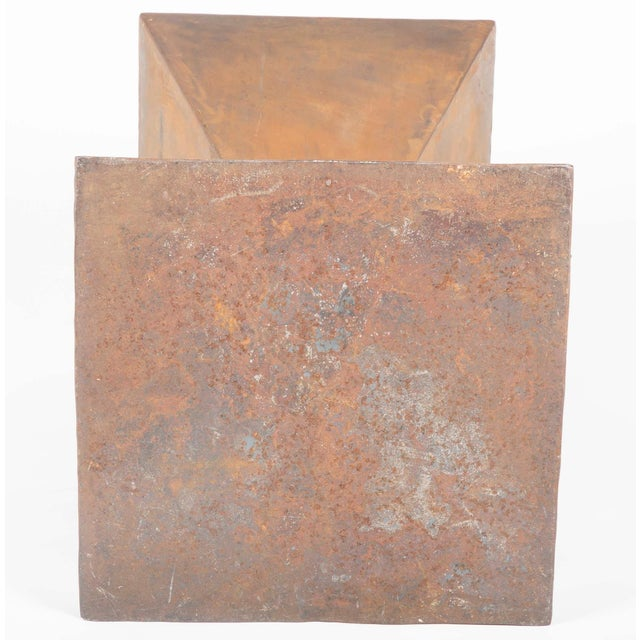 Metal Brancusi Style Steel Side Tables - A Pair For Sale - Image 7 of 13