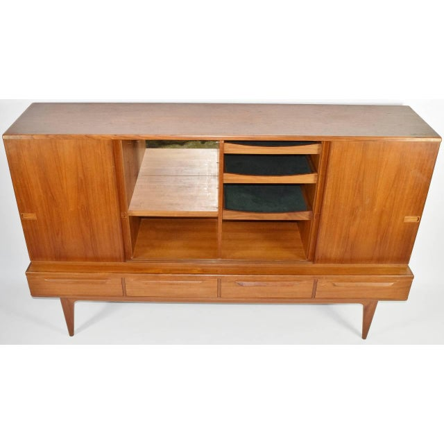 1950s Mid-Century Modern Danish Teak Sideboard For Sale - Image 5 of 6