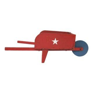 Circa 1940s Handmade Patriotic Child's Wheelbarrow For Sale