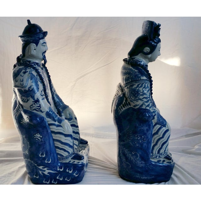 Very Large Scale Chinese Blue & White Figures - Image 8 of 9
