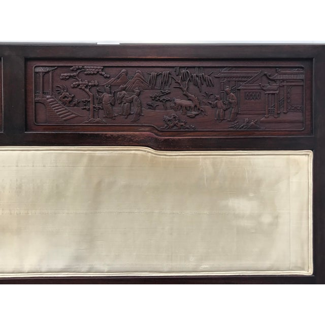 A gorgeous headboard for a twin bed with intricate carvings hand-made! It's in great shape for being over 60 years old....