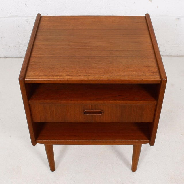Teak Danish Modern End Tables by Falster - Pair - Image 4 of 6