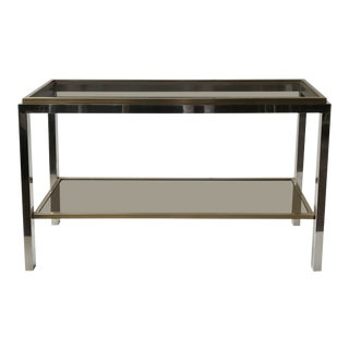 Superb Signed Two-Tier Console by Maison Jean Charles For Sale