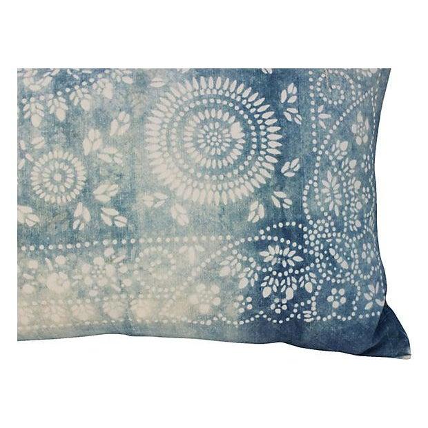 Faded Indigo Batik Body Pillow - Image 2 of 6