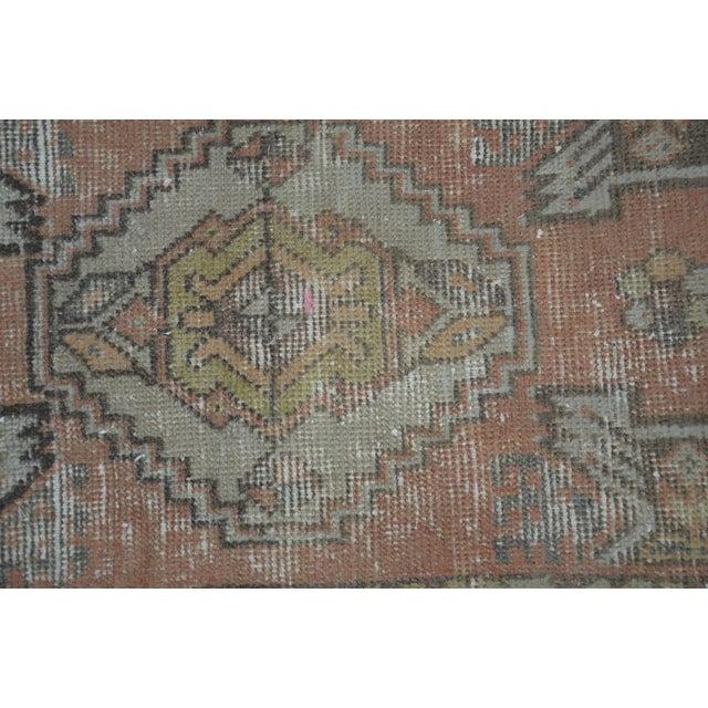 Islamic Turkish Anatolian Oushak Carpet - 1′7″ × 3′2″ For Sale - Image 3 of 6