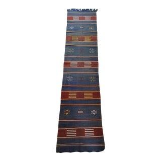 "Moroccan Cactus Silk Flat Weave Kilim Runner Rug - 25"" x 108"""