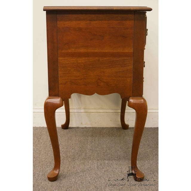 20th Century Traditional Wells Furniture Cherry Blockfront Lowboy Chest For Sale - Image 10 of 13