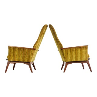 1960s High Back Chairs Attributed to Adrian Pearsall for Craft - a Pair For Sale