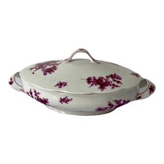 Rose Haviland Serving Dish with Cover For Sale