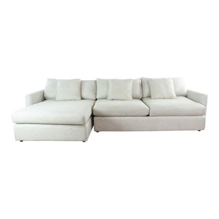 Crate & Barrel Upholstered Sectional Sofa For Sale