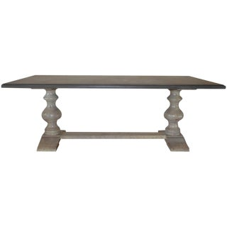 Painted Long Wooden Dining Table, Made in Italy