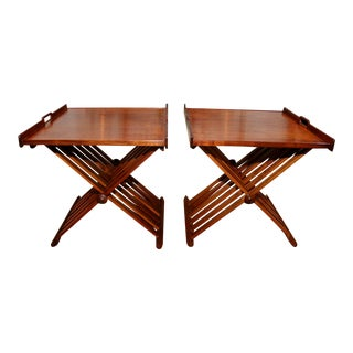 Stewart MacDougall Campaign Folding Tables - a Pair For Sale