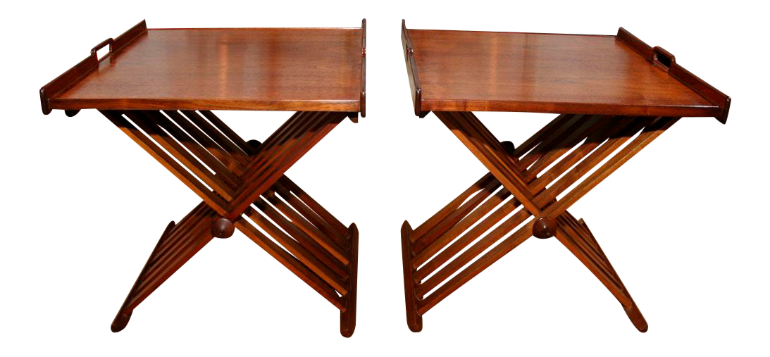 Beau Stewart MacDougall Campaign Folding Tables   A Pair   Image 1 Of 8