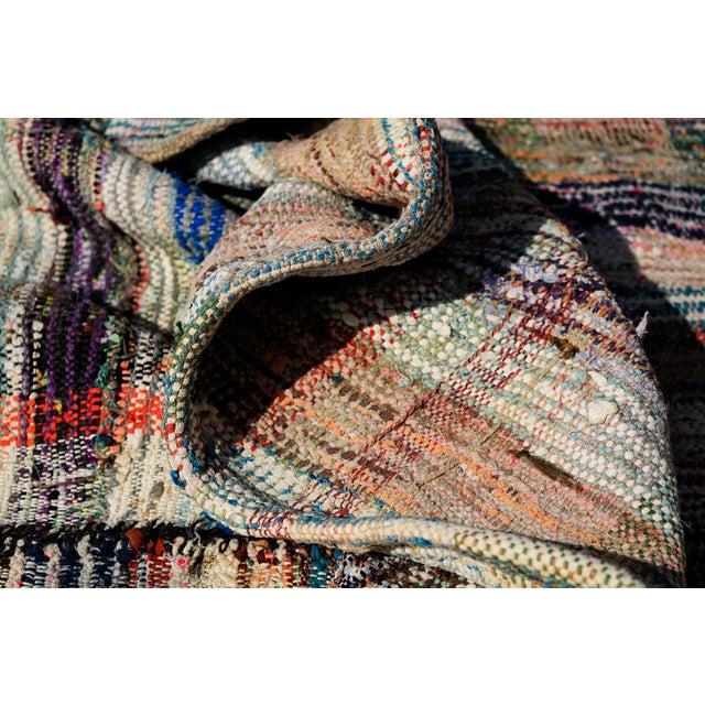 Vintage Turkish Hand-Made Flatweave Kilim Rug - 7′3″ × 10′5″ - Image 4 of 5