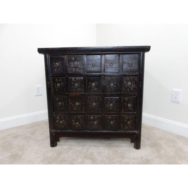 Antique Chinese Elmwood Apothecary Cabinet For Sale - Image 4 of 11