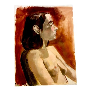 Modern Nude Study Oil Painting With Max Ginsburg For Sale