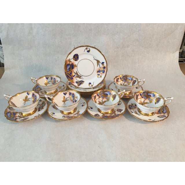 White 1940s Royal Stafford Tea and Dessert - Set of 12 For Sale - Image 8 of 8
