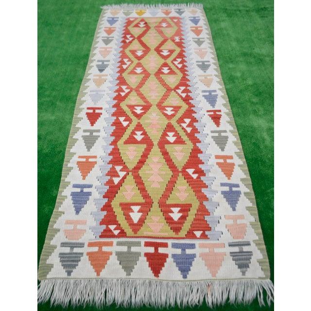 Vintage Turkish Handmade Kilim Runner Rug - 2′7″ × 6′10″ - Image 3 of 9