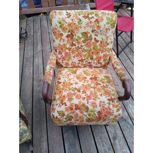 Vintage Floral Platform Rocker For Sale In Greensboro - Image 6 of 6