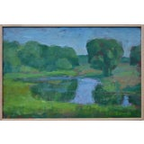 """Image of Stephen Remick """"The Frog Pond"""" Contemporary Plein Air Painting For Sale"""