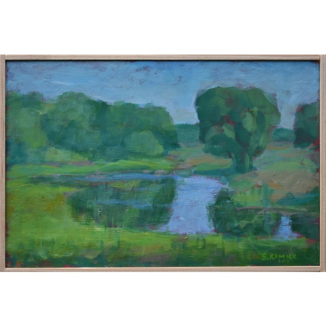 "Stephen Remick ""The Frog Pond"" Contemporary Plein Air Painting For Sale"