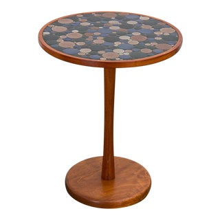 Marshall Studios Martz Coin Tile Side Table For Sale