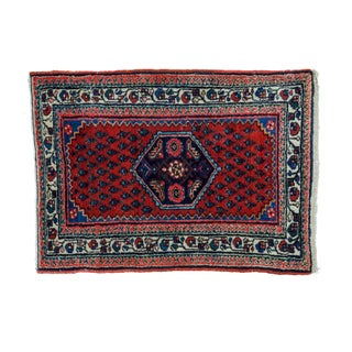 "Antique Engelas Red Rug Mat - 1'10"" X 2'5"""