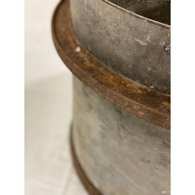 Early 20th Century Industrial Zinc and Iron Planters - a Pair For Sale - Image 6 of 8