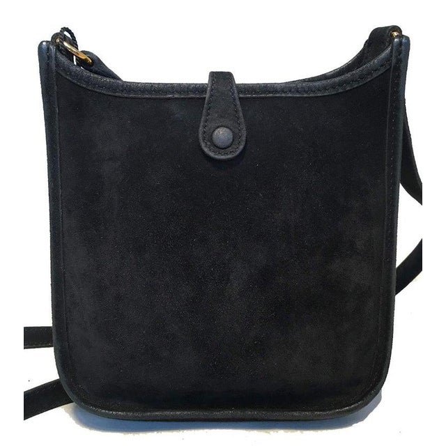Hermes Black Suede Evelyne Tpm Mini Shoulder Bag For Sale In Philadelphia - Image 6 of 13