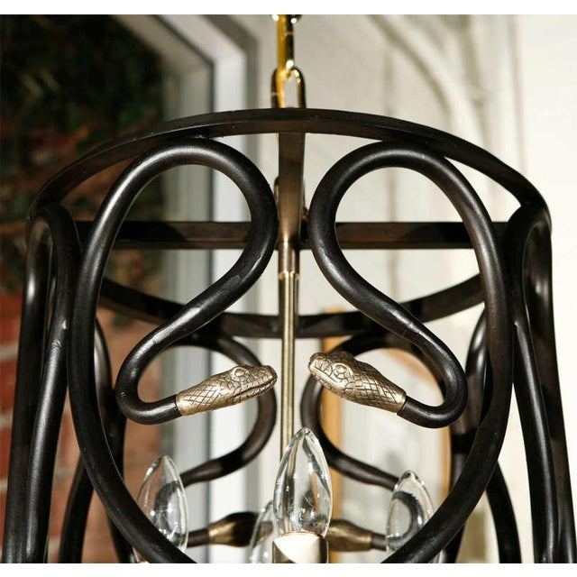 Contemporary Snake Lantern by Paul Marra For Sale - Image 3 of 7