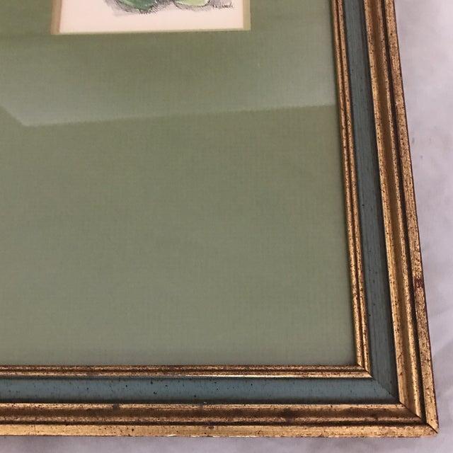 1960's Giltwood Framed Green Frog Print - Image 3 of 5