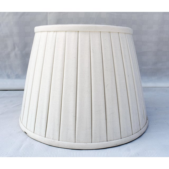 2010s Custom Belgian Lined Pleated Lamp Shade For Sale - Image 5 of 5