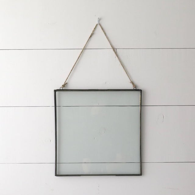 Double Sided Glass Metal Frame | Chairish