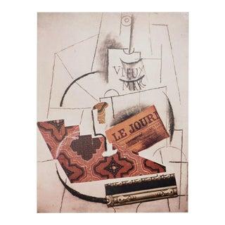 1971 Picasso Abstract Parisian Photogravure, L'œuvre La Bouteille De Vieux Marc For Sale