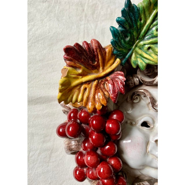 Ceramic Apolito Italian Dionysus Wall Hanging Sculpture For Sale - Image 7 of 9