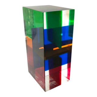 1970s Merle Edelman Acrylic Layered Sculpture For Sale