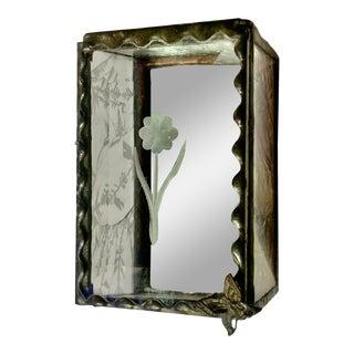 1800s Art Nouveau Zinc Jewelry Box For Sale