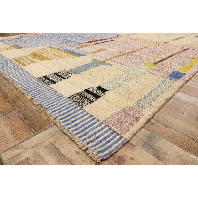 Moroccan Contemporary Rug - 10'00 X 13'10 For Sale In Dallas - Image 6 of 10