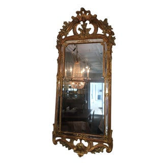 18th Century Gustavian Carved and Gilt Mirror For Sale