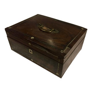 19th Century Rosewood Jewelry Box With Inlay For Sale