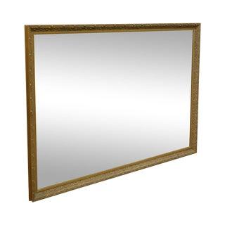 Monumental Gilt Frame Rectangular Wall Mirror For Sale