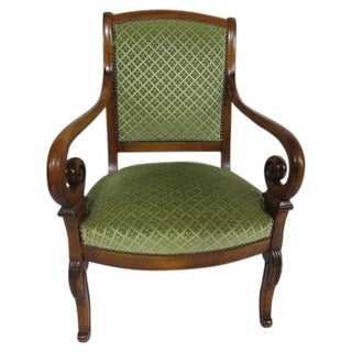 1960 Chair With Curved Arms For Sale