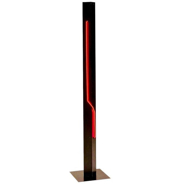 Rudi Stern Modern Standing Neon Red Torchier for Let There Be Neon Inc. For Sale In Los Angeles - Image 6 of 6