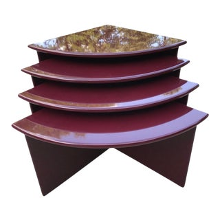 1990s Modern Lacquered Nesting Tables - Set of 4 For Sale