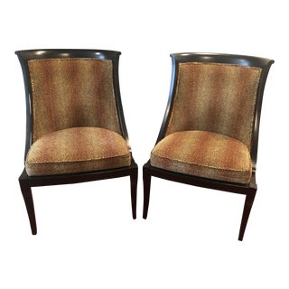 20th Century Traditional Ethan Allen Accent Chair - Animal Print - a Pair For Sale