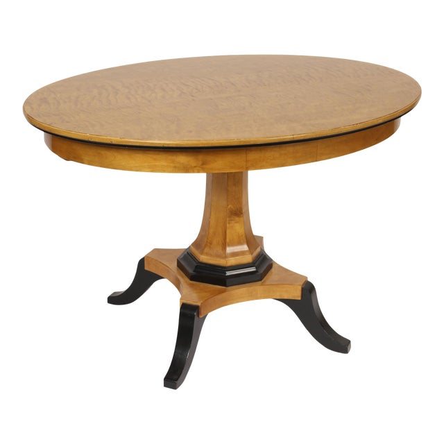 Biedermeier Style Oval Occasional / Center Table For Sale