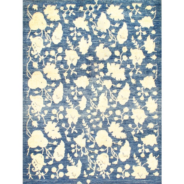 """Hand Knotted Farahan Rug - 4'10"""" X 6'4"""" - Image 1 of 2"""