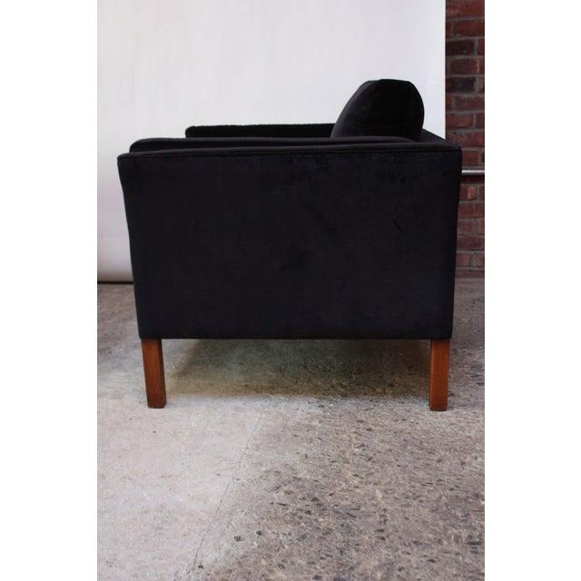 Pair of Danish Mogens Hansen Velvet Lounge Chairs - Image 6 of 10